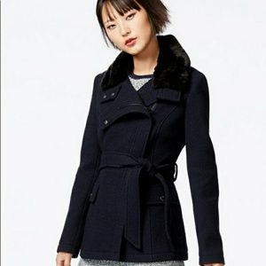 Rachel Roy Navy Blue Pea Coat Size Small